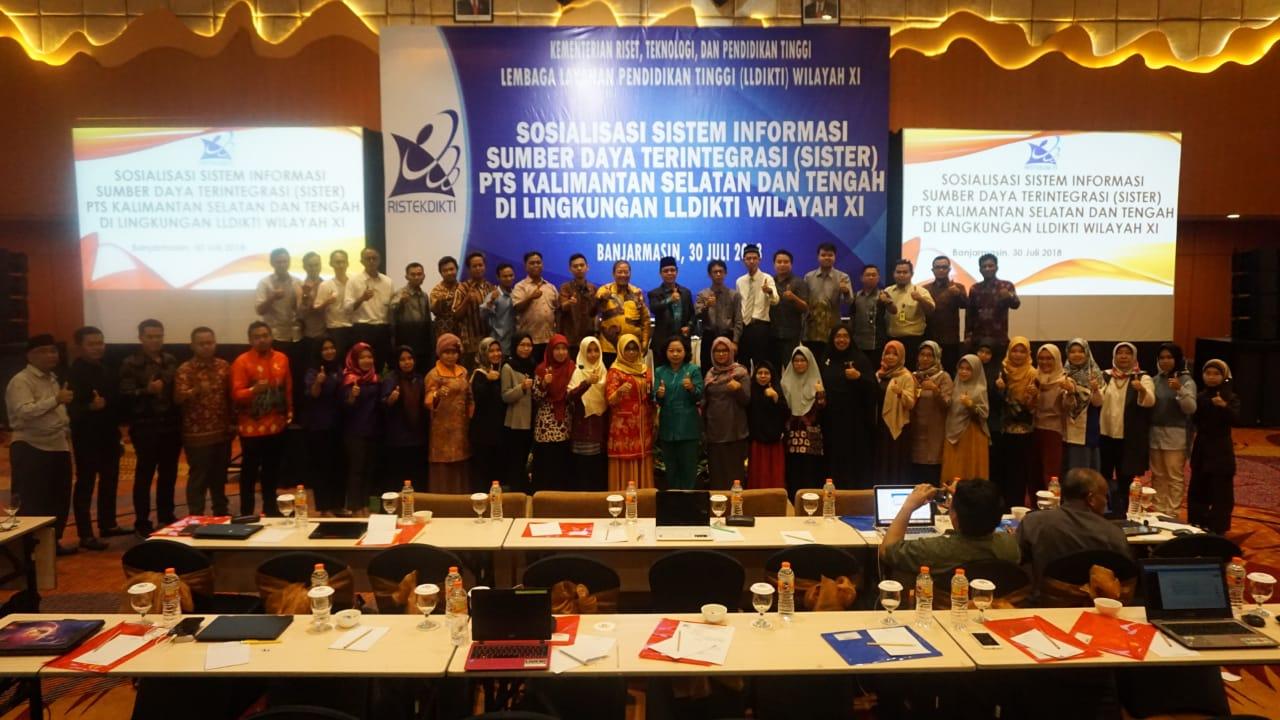 Sosialisasi Sistem Informasi Sumber Daya Terintegrasi (SISTER) PTS Kalimantan Selatan dan Kalimantan Tengah