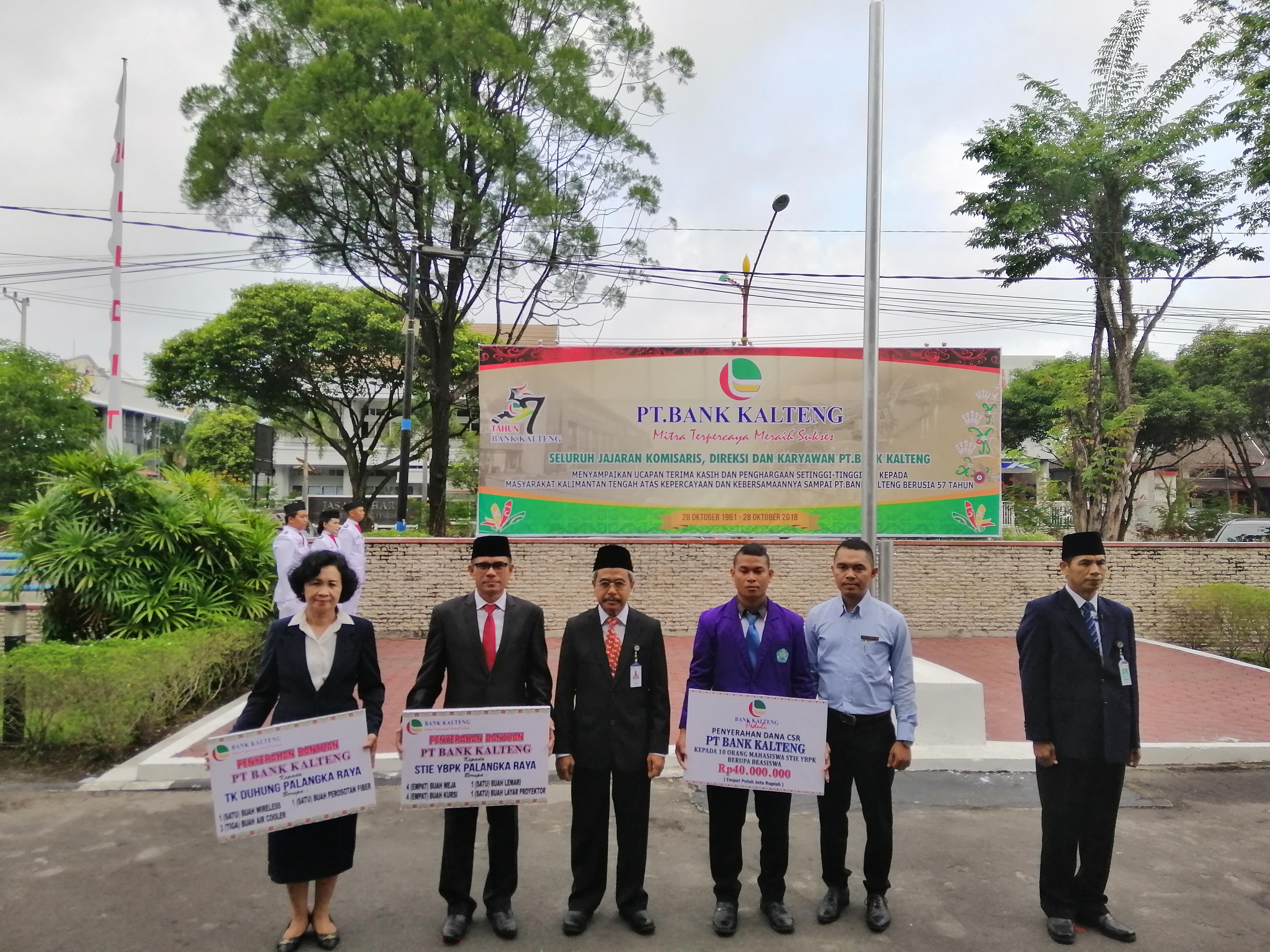 STIE YBPK Palangka Raya Ikut Peringati HUT Bank Kalteng Ke 57